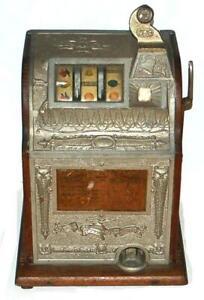 Antique 25 Cent Mills Slot Machine Storage Locker Find