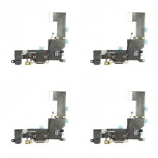 4-PACK OEM Charging Port Charger Dock Mic Flex Cable Antenna For iPhone 5S Black