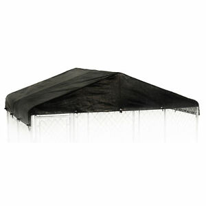 WeatherGuard 10' x 10' Outdoor Dog Kennel Waterproof Cover, No Kennel Included