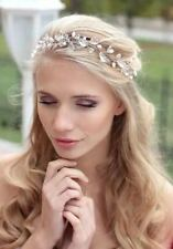 Crystal Headband Handmade Pearl Rhinestone Bride Bridesmaid Hair Jewelry Wedding