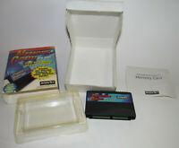 Memory Card Plus Complete CIB for Sega Saturn Good Shape