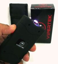 Black 5BV High Quality Self Defense Stun Gun w/ LED light + Free Holster