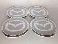 NEW 4pcs Decal Alu Stickers for Wheel Centre Cap Hubs for MAZDA - 60mm