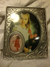 """Victorian Style COLLAGE Hard Plastic Ornate Picture Frame 8x10"""" Photo SILVER 379"""