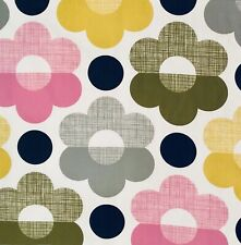 Orla Kiely Scribble Sunset Flower Multi FQ 50cm Square Fabric Lightweight NEW