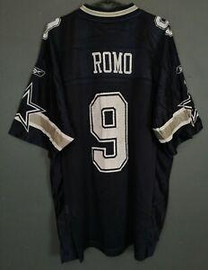 MEN'S REEBOK DALLAS COWBOYS TONY ROMO #9 NFL FOOTBALL SHIRT JERSEY SIZE L LARGE
