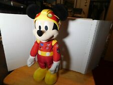 """LRN~Disney Store MickeyMouse Plush Mickey and the Roadster Racers 14"""" NO CAR"""