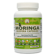 Moringa Source Capsules 120 Count- USDA Organic Leaf Powder - 400mg Capsules
