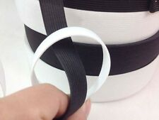 Wholesale High Quality Width 2/2.5/3.8/5 cm Knitted Elastic Black / White Trim
