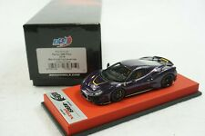 1/43 BBR FERRARI 488 PISTA METALLIC VIOLET/YELLOW RED LEATHER LE 20 PCS MR