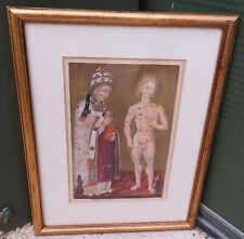 Framed Illuminated Style Print of Saints Fabian and Sebastian, G. di Paolo