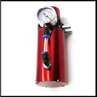 AL6061 Engine Oil Reservoir Catch Can Kit Breather Filter+Vacuum Pressure Gauge