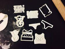 4 piezas Conjunto de Victoria Secret Cupcake Reino Unido Masita Cortador Fondant Pastel Decoración