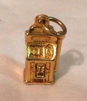 "Vintage Charm SLOT MACHINE Gold Tone GAMBLING Pendant .75"" Jewelry Bracelet NEW"