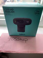 Brand New Logitech C270 Webcam HD 720p Video Call W/ Built In Mic