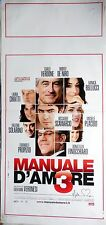 locandina playbill CINEMA MANUALE D AMORE 3 DE NIRO VERDONE BELLUCCI PLACIDO