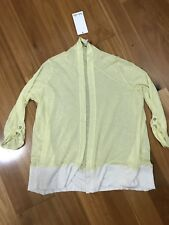 SPLENDID Anthropologie Lemon (yellow) Cream Cardigan  - Size XL NEW