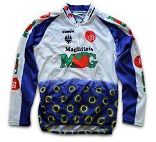 "RETRO 1994 GB-MG BIANCHI DIADORA TEAM CYCLING JERSEY TOP (LABEL: VII) 44"" CHEST"