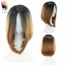 14'' Bobo Short Straight Synthetic Ombre Hair Wigs Cosplay Sexy Full Head Wig