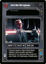 Darth Maul With Lightsaber [slight wear] THEED PALACE star wars ccg swccg