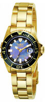 Invicta Women's Pro Diver Swiss Quartz 100m Gold Tone Stainless Steel Watch 2962