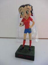 """Figurine Betty Boop Résine """"Footballeuse"""" Hauteur 13 cm Neuf voir description"""
