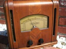 Silvertone 100.179 Antique Tube Radio Wooden Cabinet Restored Dec. 2009