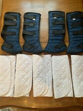 """4-Toklat Horse Shipping Protective Boots 14"""" With 5 quilted wraps"""