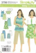 Misses Dress Tunic Cropped Pants City Shorts Jacket Simplicity 3799 Size XXS - M