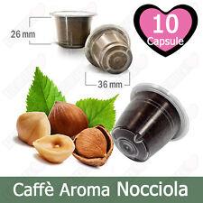 10 Capsule Caffè Tre Venezie Aromatizzato Nocciola Compatibili Nespresso
