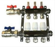 3 Loop 1 Stainless Steel Manifold For Radiant Heating For 12 Pex Tubing