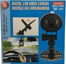 "12v/24v DIGITAL DASH CAM HD 720p 2.5"" RECHARGABLE CAMERA CAR TRUCK DASHBOARD 419"