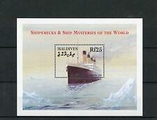 Maldives 2001 MNH Shipwrecks & Ship Mysteries of World 1v S/S Titanic Boats