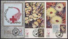 509 Yugoslavia - Macedonia 1991 Red Cross, MC + FDC black seal