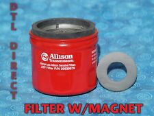 Allison 29539579 transmission spin on filter with 29535617 magnet Duramax T1000