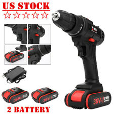 36V Cordless Brushless Electric Drill Power Tool Kit 3/8