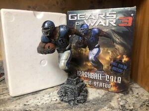 RARE Gears Of War 3 Full Color Edition Thrashball Cole Resin Statue