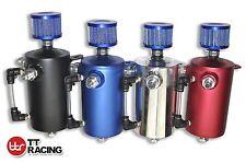 Billet Aluminum Racing Oil Catch Can Tank w/Breather Fit/NISSAN 4X4 4WD GQ GU