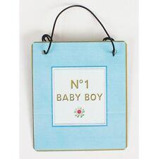 No 1 Baby Boy Hanging Sign