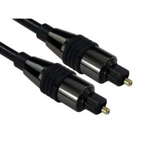 15m LONG TOSlink Optical Digital Cable Audio Lead PREMIUM CHROME RANGE