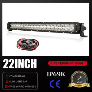 OSRAM LED Light Bar 22 inch One-row Spot Flood Combo Driving Offroad Truck 4WD