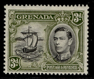GRENADA GVI SG158a, 3d black & olive-green, M MINT. Cat £15. PERF 12½ X 13½