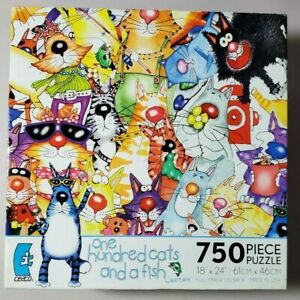 Ceaco One Hundred Cats and a Fish 750 Piece Jigsaw Puzzle Complete Whitlark