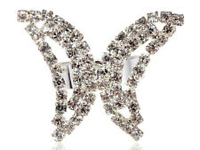 Abstract Insect Butterfly Flutterfly Wing Crystal Rhinestone Fashion Charm Rings
