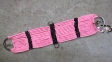Weaver 17-Strand PINK & Black SOFT Cotton Western Horse Cinch ~ Size 32