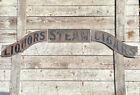 Antique Liquor Cigars Steam Beer Trade Sign 1800s Brass Brothel Bar Advertising