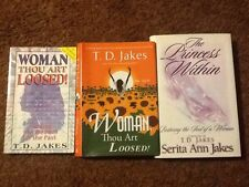 T.D. Jakes Serita Ann Jakes Woman Thou Art Loosed The Princess Within Lot Of 3
