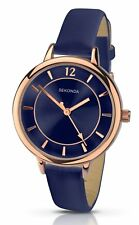 Sekonda Editions Womens Blue Dial Blue Leather Strap Watch 2136 RRP £29.99