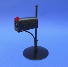 Miniature Dollhouse Black Rural Country Mail Box 1:12 Scale New