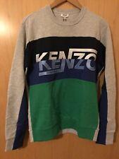 Kenzo Sweatshirt Top Grey With Multi-colour Logo & Trim, Unisex, Size S -BNWT